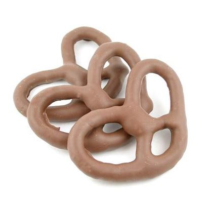 Picture of Sugar Free Milk Chocolate Pretzels Large