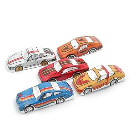 Picture of Milk Chocolate Foiled Race Cars