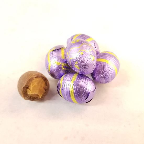 Picture of Milk Chocolate Peanut Butter Filled Foiled Easter Eggs
